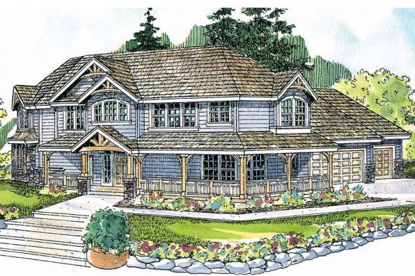 Craftsman House Plan - Rutherford 30-411 - Front Elevation