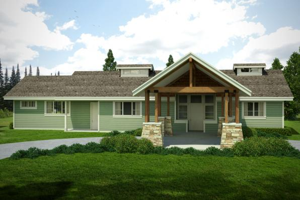 Craftsman House Plan - Tetherow 31-019 - Front Exterior