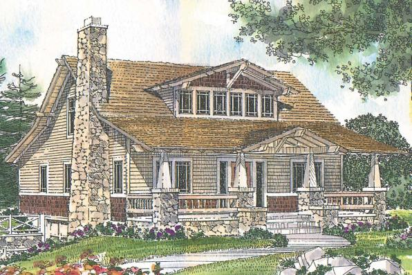 Craftsman House Plan - Tuckahoe 41-013 - Front Elevation