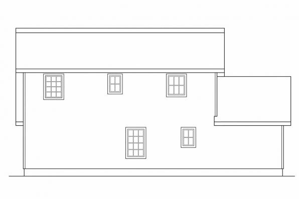 Craftsman House Plan - Tupelo 60-006 - Rear Elevation