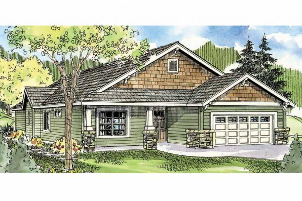 Craftsman House Plan - Westwood 30-693 - Front Elevation