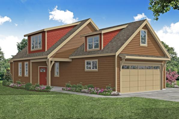Craftsman House Plan - Winlock 31-201 - Front Elevation