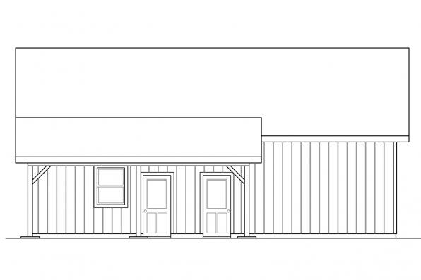 Detached Garage Plan 20-154 - Right Elevation
