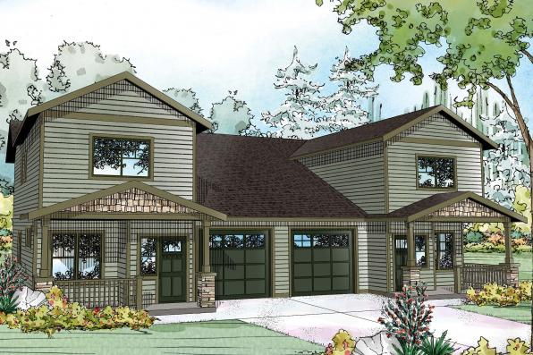 Duplex Plan - Kennewick 60-037 - Front Elevation