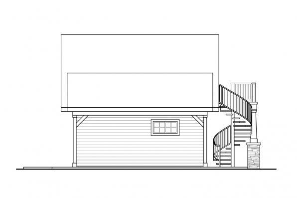 Small House Plan - Wolf Creek Cottage 31-249 - Right Elevation