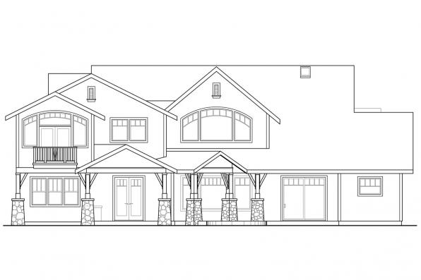 Estate House Plan - Breckenridge 30-483 - Rear Elevation