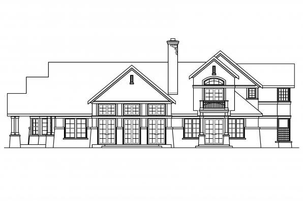 Estate House Plan - Everheart 10-440 - Rear Elevation