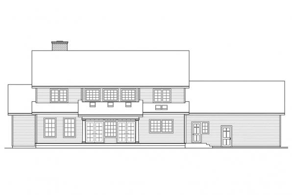 Estate House Plan - Kearney 30-062 - Rear Elevation