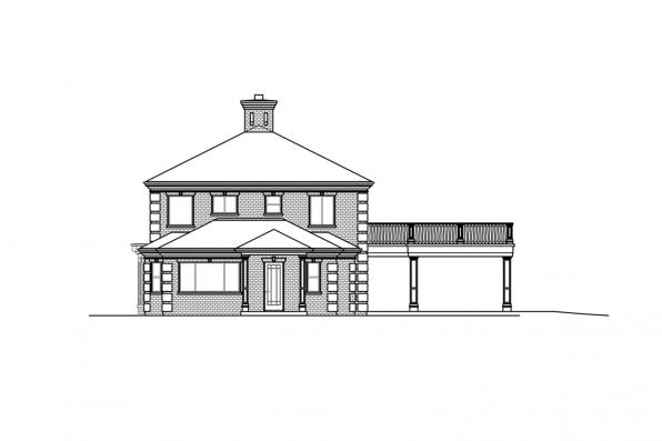 Two Story Home Plan - Westchester 31-167 - Right Elevation