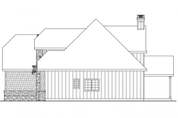 European House Plan - Heartison 10-540 - Left Elevation