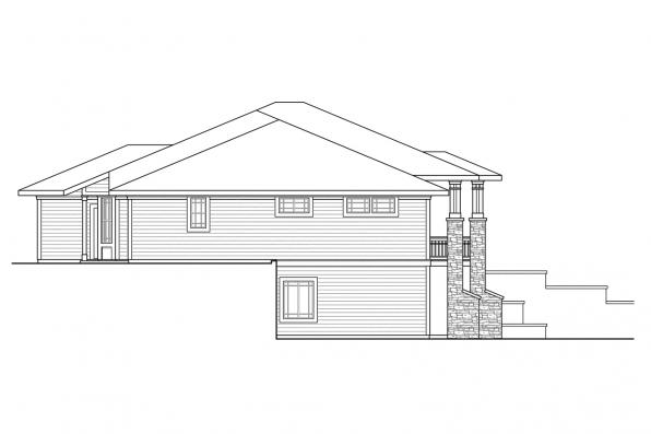 European House Plan - Northshire 30-808 - Right Elevation