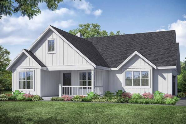 Farmhouse House Plan - Whiskey Creek 31-143 - Front Exterior