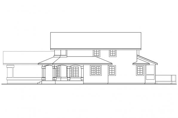 Florida House Plan - Artesia 10-168 - Left Elevation