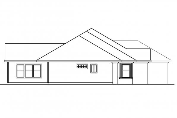 Florida House Plan - Brittany 30-317 - Right Elevation