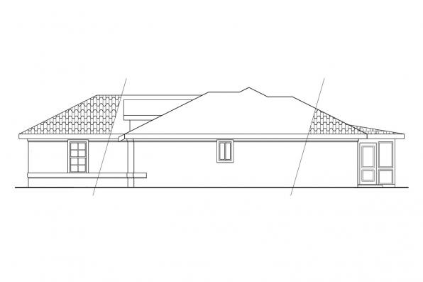 Florida House Plan - Camille 11-031 - Left Elevation