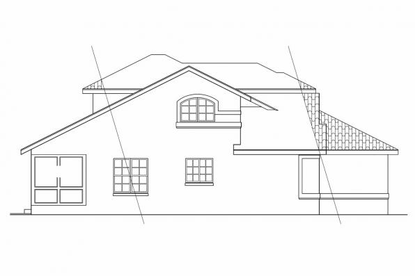 Florida House Plan - Highland 11-047 - Right Elevation