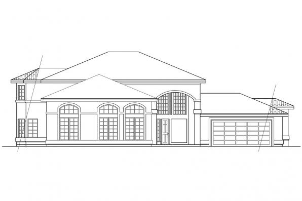 Florida House Plan - Southaven 11-038 - Right Elevation