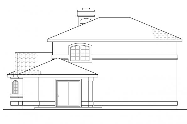 Florida House Plan - Southport 11-149 - Rear Elevation