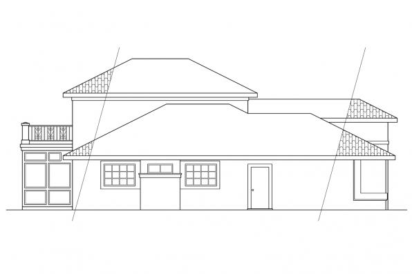 Florida House Plan - Warrington 11-036 - Right Elevation