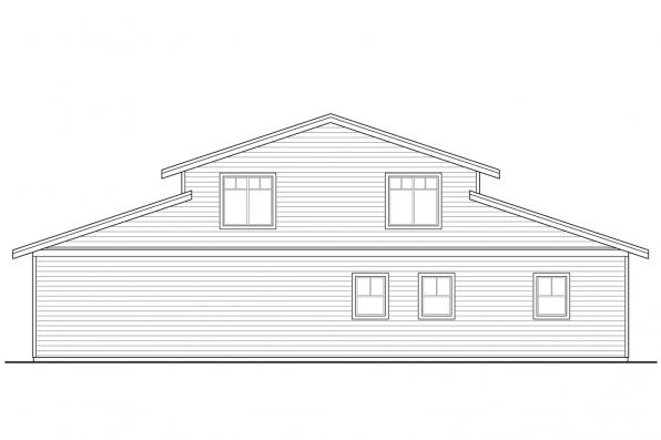 Garage Design 20-144 - Rear Elevation