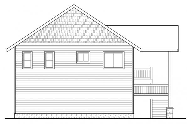 Garage Design 20-152 - Rear Elevation