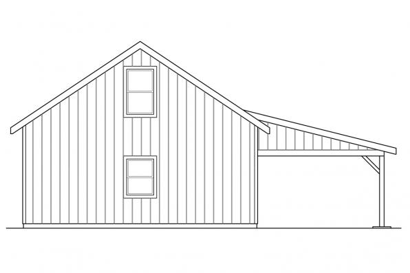 Garage Design 20-154 - Rear Elevation