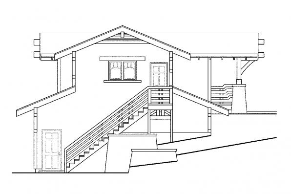 Garage Design 20-008 - Rear Elevation