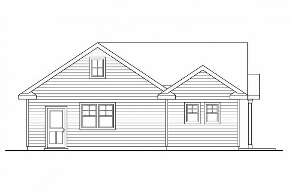 Garage Design 20-035 - Rear Elevation