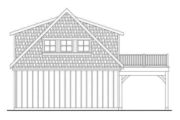 Garage Design 20-061 - Rear Elevation