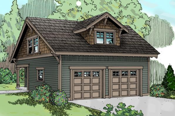 Garage Plan 20-007 - Front Elevation