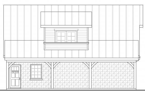 Garage Plan with Apartment 20-067 - Right Elevation