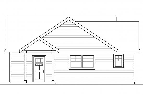 Garage Plan with Apartment 20-116 - Left Elevation