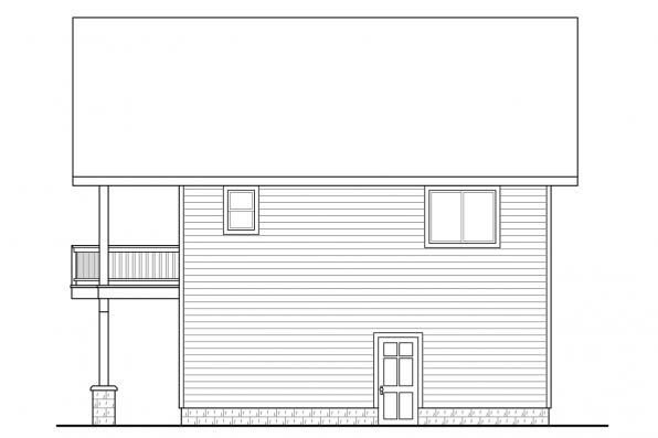 Garage Plan with Apartment 20-152 - Left Elevation