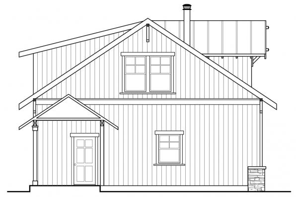 Garage Plan with Living 20-189 - Right Elevation