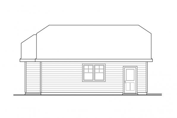 Garage Plan with Studio 20-112 - Right Elevation