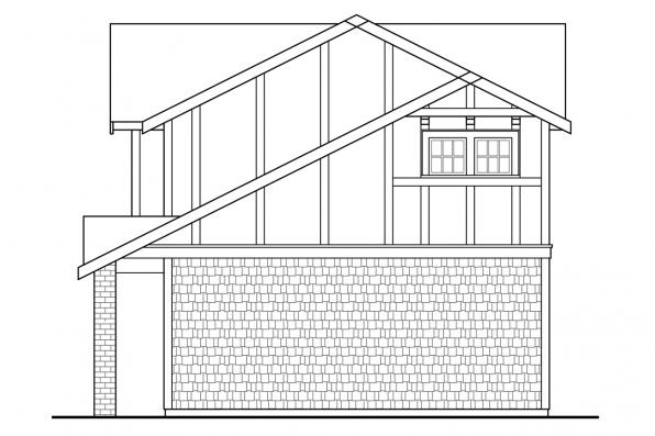 Garage Plan with Apartment 20-199 - Left Elevation