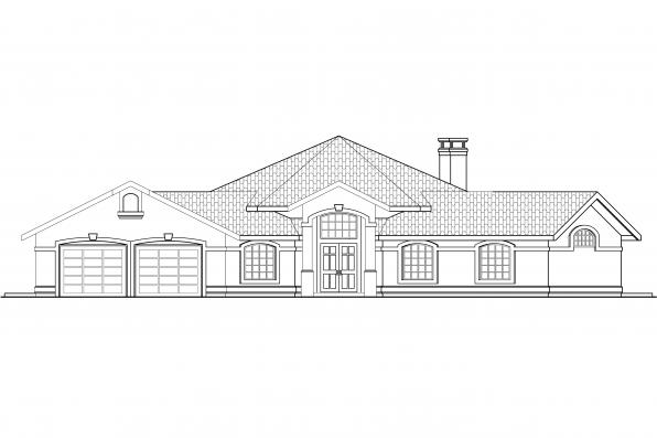 Hexagonal House Plan - Rosabella 11-137 - Front Elevation