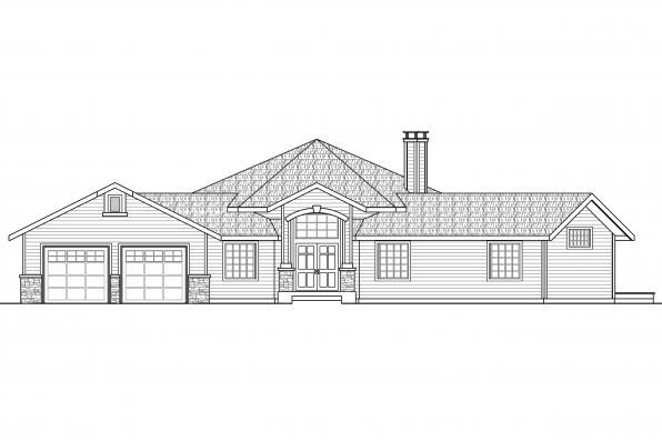 Hexagonal House Plan - Silvercrest 11-143 - Front Elevation