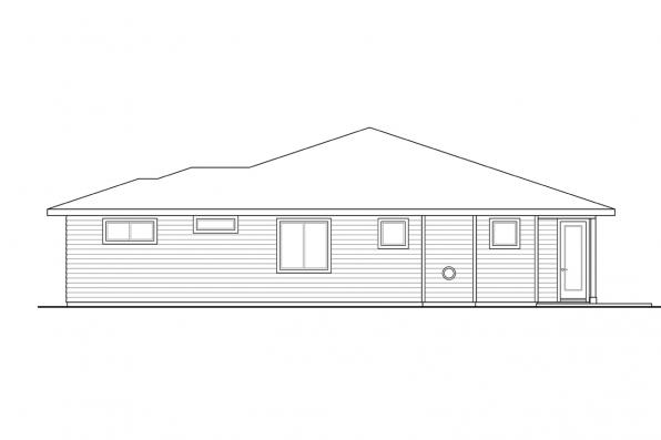 Bungalow Home Plan - Chicory 31-169 - Left Elevation