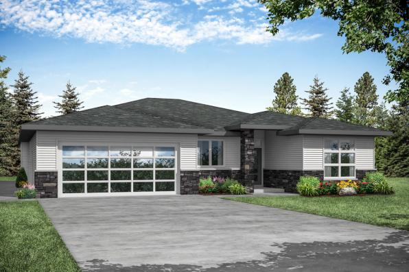 Contemporary House Plan - Alderwood 31-049 - Front Exterior