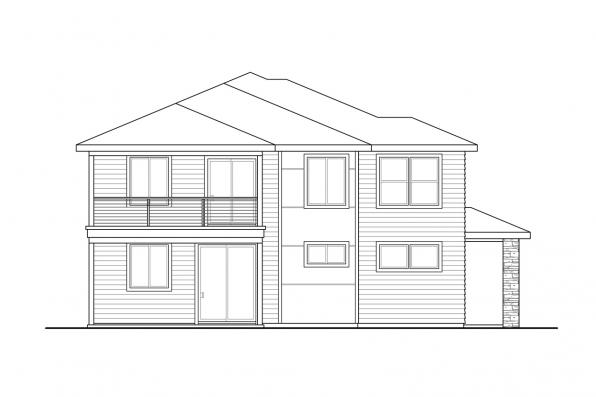 View Lot House Plan - Clatsop 31-185 - Right Elevation