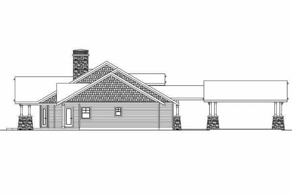 House Plan with Detached Garage - Arborgage 30-654 - Right Elevation