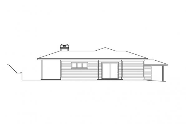 Two Story Home Plan - Staghorn 31-168 - Right Elevation