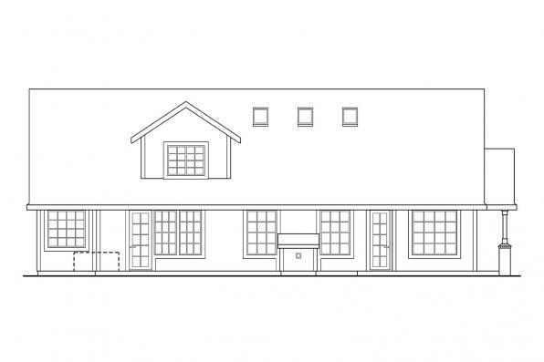 House Plan with Photo - Brillion 30-167 - Rear Elevation