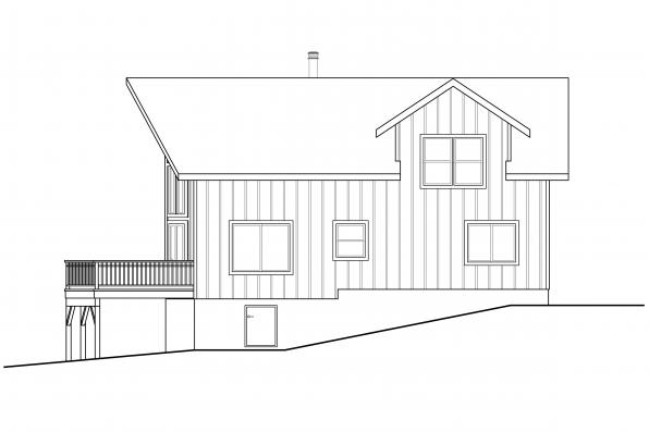 A-Frame Home Plan Timber Hill 31-122 - Left Elevation