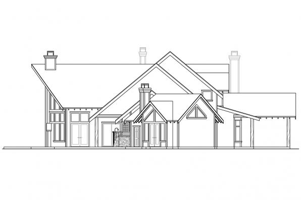 Lodge Style House Plan - Coeur D'Alene 30-634 - Right Elevation
