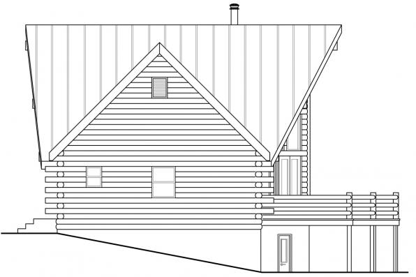 Lodge Style House Plan - Eagle Rock 30-919 - Right Elevation