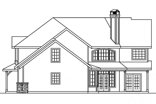 Lodge Style House Plan - Rutherford 30-411 - Left Elevation
