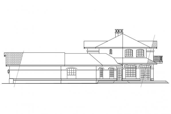Mediterranean House Plan - Grandeza 10-136 - Left Elevation