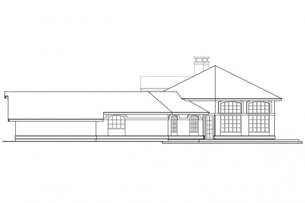 Mediterranean House Plan - Oakland 10-037 - Left Elevation